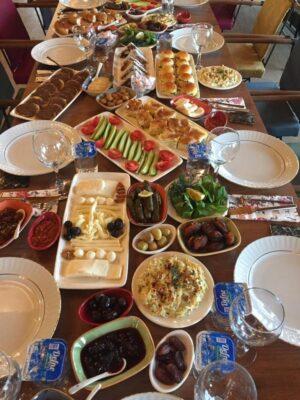 Kastamonu Taşköprü Köy-Üret Kahvaltı sofrası