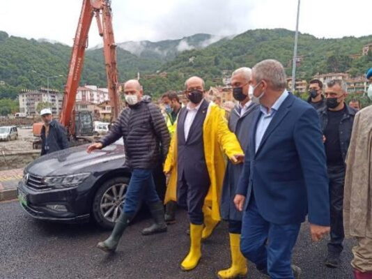 Kuzey Kıbrıs Türk Cumhuriyeti Cumhurbaşkanı Sayın Ersin Tatar Afet Bölgesi Kastamonu'da
